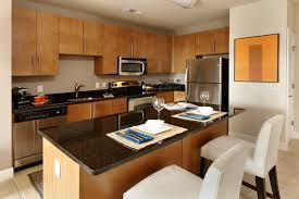 apartment simple apartment kitchen design with wooden furniture