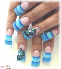 acrilyc paint nail designs with blur designs nail art global