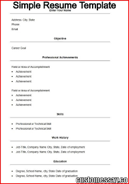 simple resume template custom essay