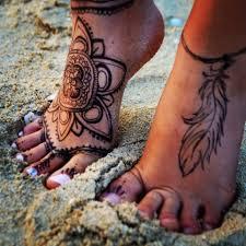 henna inspired feet tattoo tattoos and piercings pinterest