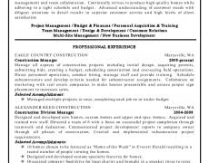 construction project manager resume examples 19 click here to