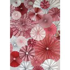 paper fans for wedding 25pc pink rosettes paper fans wedding pinwheel backdrop decor