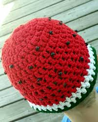 crochet band watermelon cotton crochet hat ruffle or band unisex boy girl