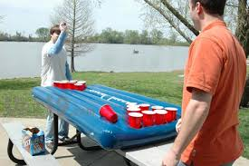 how long is a beer pong table port o pong the inflatable portable beer pong table