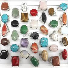 natural stone rings images 50pcs lot big semi precious stone rings high quality natural stone jpg