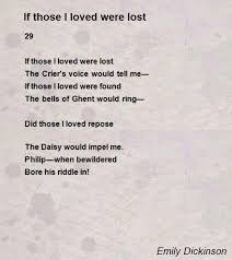 wedding quotes emily dickinson if those i loved were lost poem by emily dickinson poem