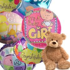 balloons and teddy delivery baby girl mylar balloon bouquet balloons and teddy same day
