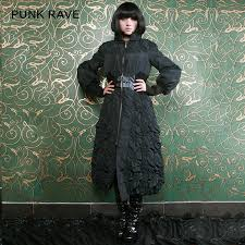 Long Trench Coats For Women Puffy Winter Long Sleeve Gothic Trench Coats For Women