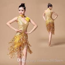 2018 women girls latin salsa dance 2017 sequin fringe dress