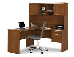 L Shaped Office Desk With Hutch Bestar 90427 Flare L Shaped Computer Desk With Hutch