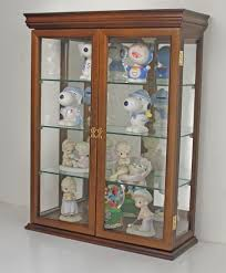 display curio cabinets amazon com tuscan style hardwood wall curio cabinet stand or wall mount walnut