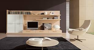 contemporary tv setup round coffee table modern living room design