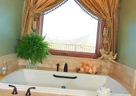 Curtains For Bathroom Windows by Bathroom Vivacious White Bathtubs In Mediterranean Style Bathroom