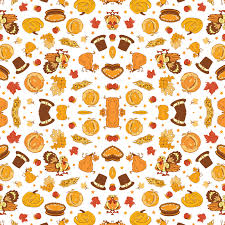 vector cornucopia thanksgiving pumpkin turkey corn seamless