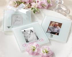 wedding coaster favors personalized frosted glass photo coaster set of 12