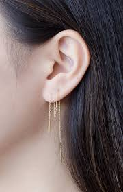 earring chain necklace images Long threader earrings sterling silver gold plated chain jpg