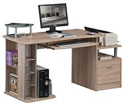 amazon bureau sixbros bureau informatique aspect bois de chêne s 202a 1845