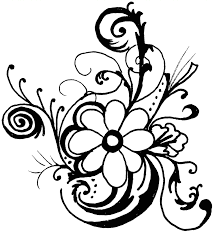 hawaiian flower clip art black and white clipart library free