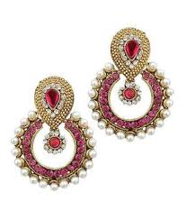 beautiful ear rings beautiful golden color moti work hanging earrings at rs 149