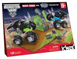 original grave digger monster truck amazon com k u0027nex monster jam grave digger versus son uva digger