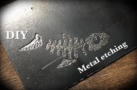 metal engraving diy metal etching