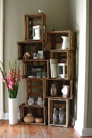 milk crate shelves best 25 wooden crates ideas on pinterest rustic apartment