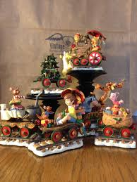 winnie the pooh christmas train u2014 vintage heart