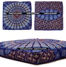 amazon com indian daybed big seating peacock mandala floor pillow