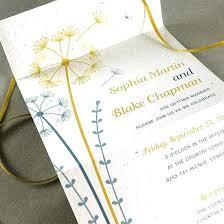 send and seal wedding invitations idea seal n send wedding invitations for dandelion seal and send