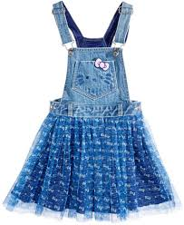 hello printed mesh overall dress toddler 2t 5t