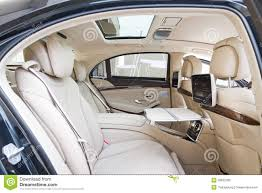 mercedes s class rear seats mercedes s class 2013 model rear seat editorial stock image