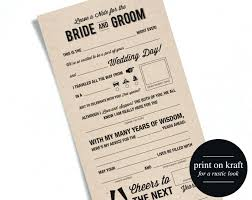 wedding advice card mad libs wedding invitations for wedding advice card mad libs