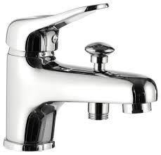 Clawfoot Tub Faucet With Diverter Deck Mounted Tub Filler With Diverter Chrome Contemporary