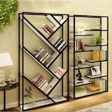 2017 wrought iron wood bookcase shelf living room wall panels