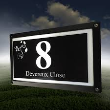house number light box your custom darenth house number plaque with light box the acrylic
