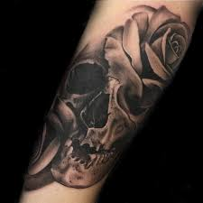 black and grey skull by mike nance at certified