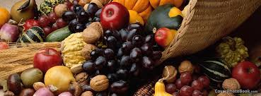 Facebook Thanksgiving Thanksgiving Cornucopia Horn Fruits Facebook Cover Holidays