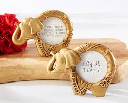 elephant favors gold lucky elephant frame my wedding favors