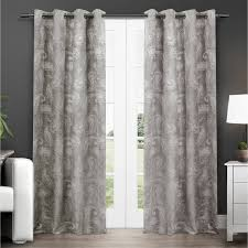 exclusive home bangalore paisley thermal grommet top window