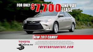 15 Second One Pay Car Lease From Toyota Of Santa Fe New Mexico