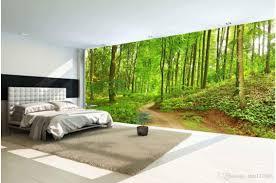Large Wallpaper Murals Free Best Hd Wallpapers 3d Wallpaper Custom Photo Mural Forest Trail Landscape Tv Sofa