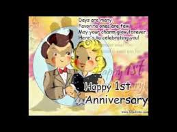 happy 1st wedding anniversary greetings card