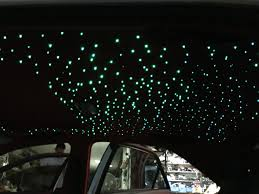 car ceiling sky celestial star ceiling modified roof flip fur