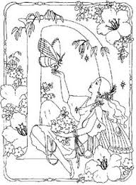 lovely fairy advanced difficult coloring pages grown
