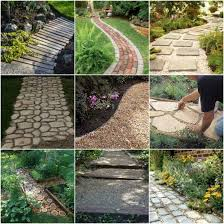 creating a garden path to an outdoor oasis can be done in many