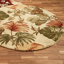 Round Indoor Rugs by Palm Leaf Round Area Rug