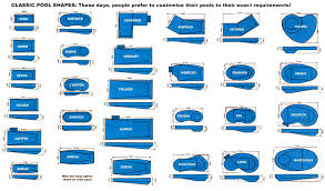 pool shapes and sizes cascade pool information pool sizes illionis home
