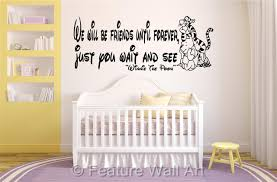 baby nursery decor removable pray soul baby nursery wall quotes baby nursery decor pooh bear disney decoration baby nursery wall quotes friends until forever wait