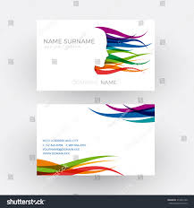 Hairdresser Business Card Templates Vector Abstract Female Head Concept Hairdresser Stock Vector