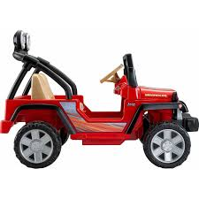 Power Wheels Jeep Wrangler 12 Volt Battery Powered Ride On Red